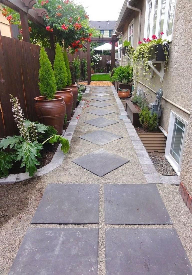 50+ Luxury Garden Path Walkways Ideas - Page 8 of 54 on Side Yard Walkway Ideas id=29644
