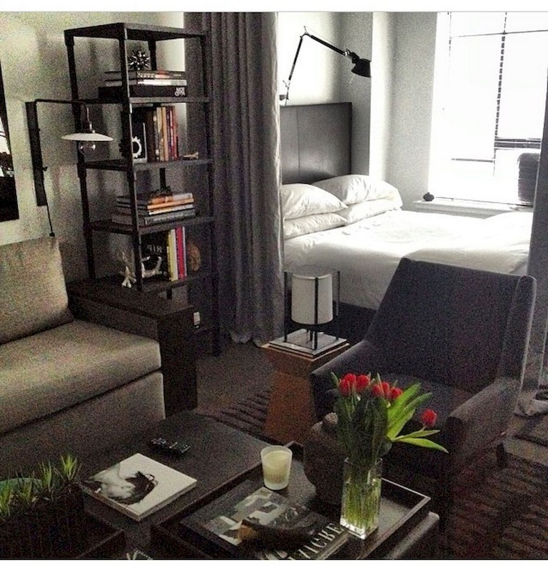 75 Stunning Small Studio Apartment Decor Ideas,Deep Kitchen Drawer Organizer Ikea