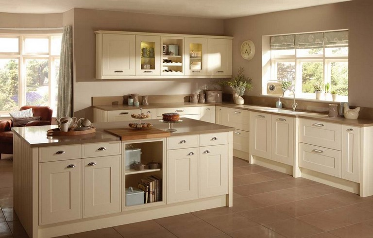 50+ Easy And Elegant Cream Colored Kitchen Cabinets Design ...
