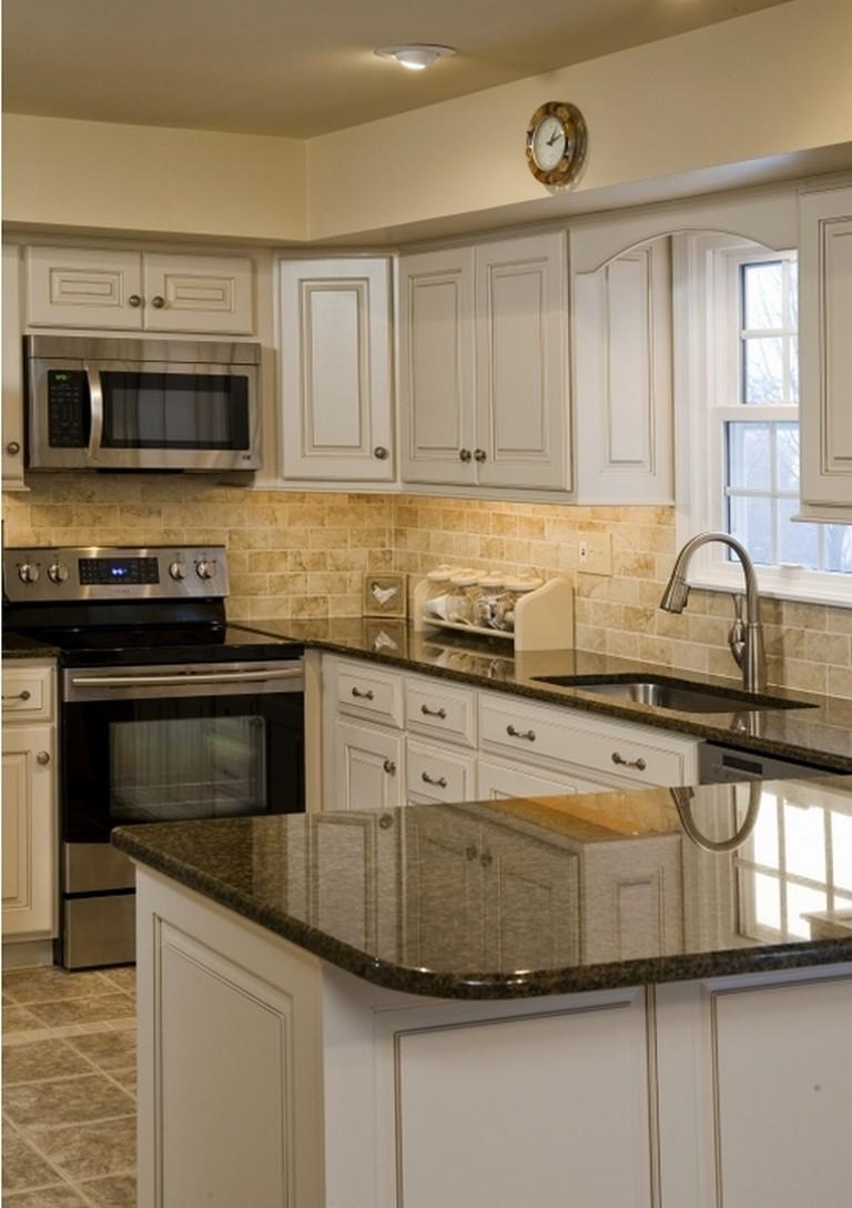 50+ Easy And Elegant Cream Colored Kitchen Cabinets Design ...